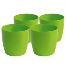 Kunststoff Pflanzgefäß 4-er-Set grün