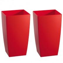 Kunststoff Pflanzgefäß 2er-Set rot