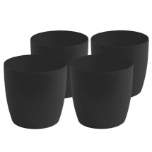 Kunststoff Pflanzgefäß 4-er-Set  schwarz