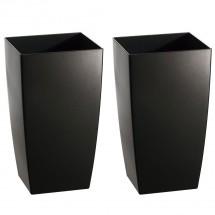 Kunststoff Pflanzgefäß 2-er-Set schwarz