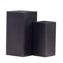 Pflanzkübel Fiberglas schwarz vers. Gr