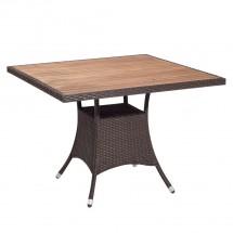 Polyrattan Tisch mocca