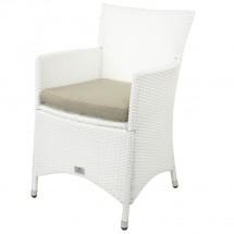 Polyrattan Stuhl weiß