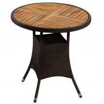Polyrattan Tisch rund mocca