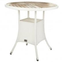 Polyrattan Tisch rund weiß