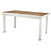 Polyrattan Tisch weiß